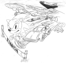 sonic racing comic coloring pages - photo#9
