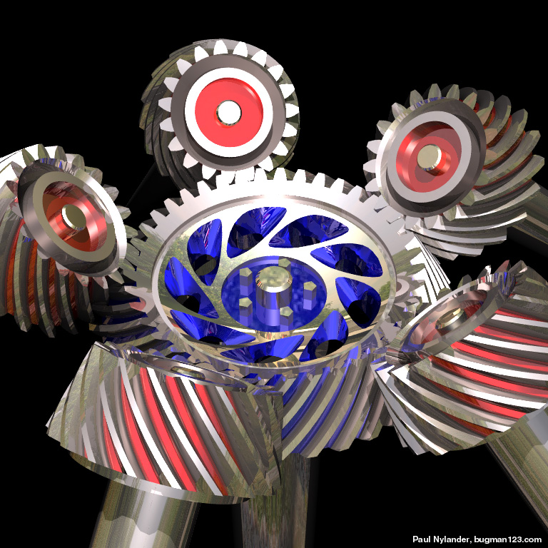 Bevel Gear Animation : Gear inventions and artwork